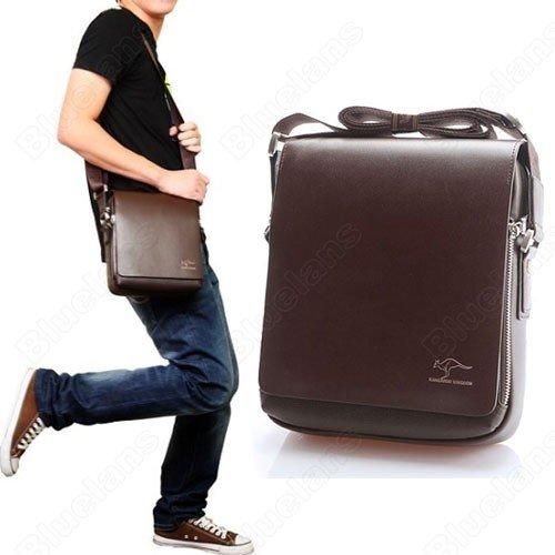 faae5457da53 Fashion Kangaroo Mens Leather Crossbody Shoulder Messenger Bag Briefcase 2  Colors 2 Versions Free Shipping Handbag