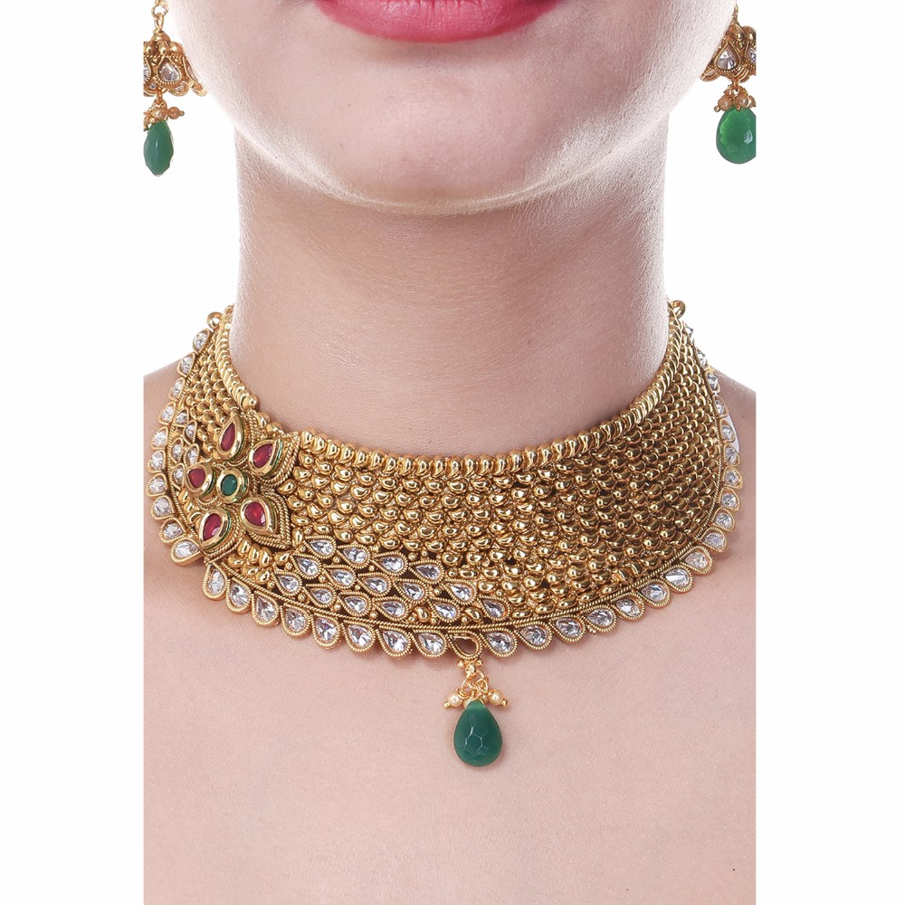 Royal Choker South Indian Style One Gram Gold Plated Wedding