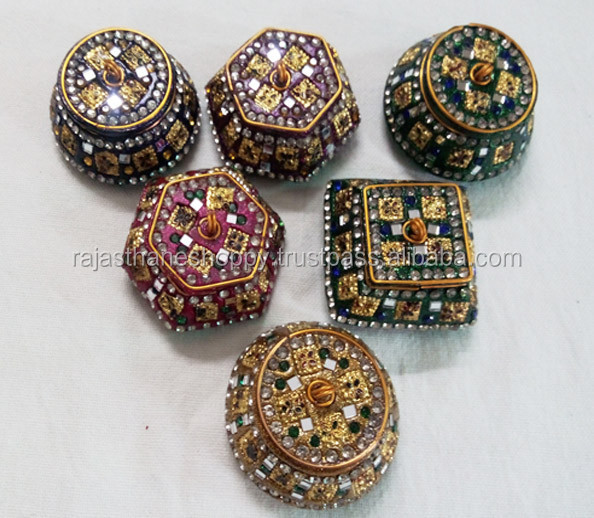 Indian Wedding Gift Traditions: Indian Traditional Wedding Gifts Lac Sindoor Box Lakh