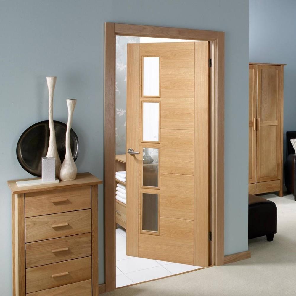 for t lumineux placage de ch ne porte en bois avec verre vision panneaux portes id de produit. Black Bedroom Furniture Sets. Home Design Ideas