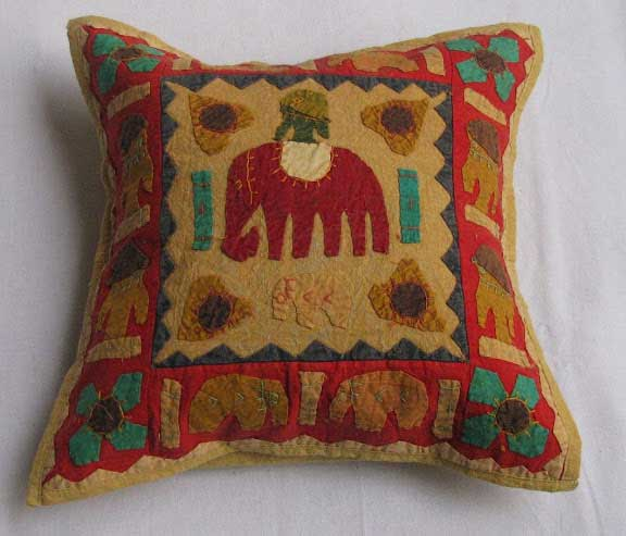 Indian Kantha Cushion Cover Cotton Pillow Handmade