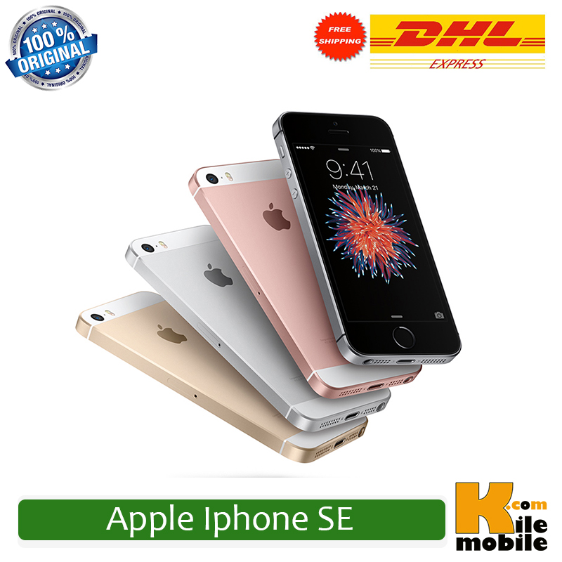 original unlocked apple iphone se 4 0 inch 16 64 gb rom 2gb ram 12mp a9 chip ios 9 3. Black Bedroom Furniture Sets. Home Design Ideas