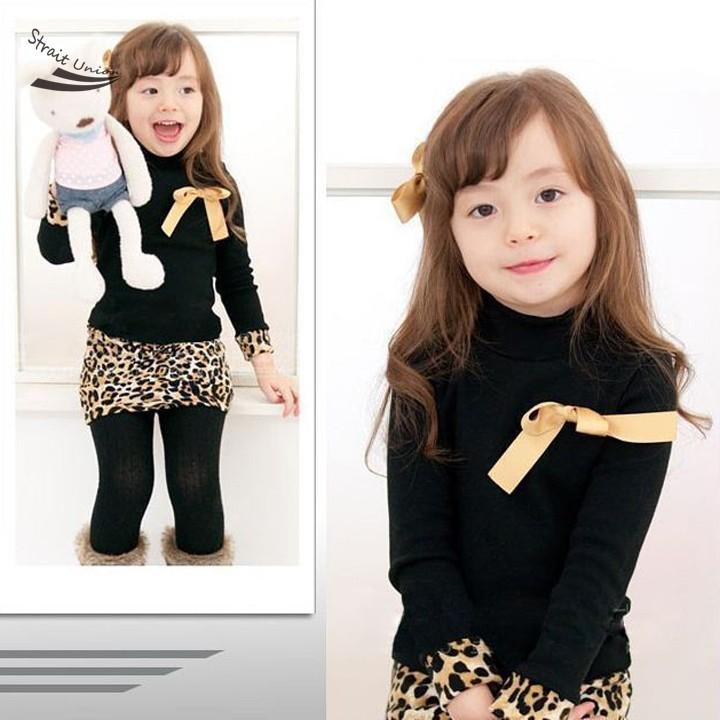 New Sweet Baby Girl s Wear Long Sleeve Leopard Print Costumes font b Fancy b font