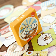 46 pcs/pack Cute Molang Rabbit Label Stickers Decorative Stationery Stickers Scrapbooking Stickers Diary Album Stick Lable H1289