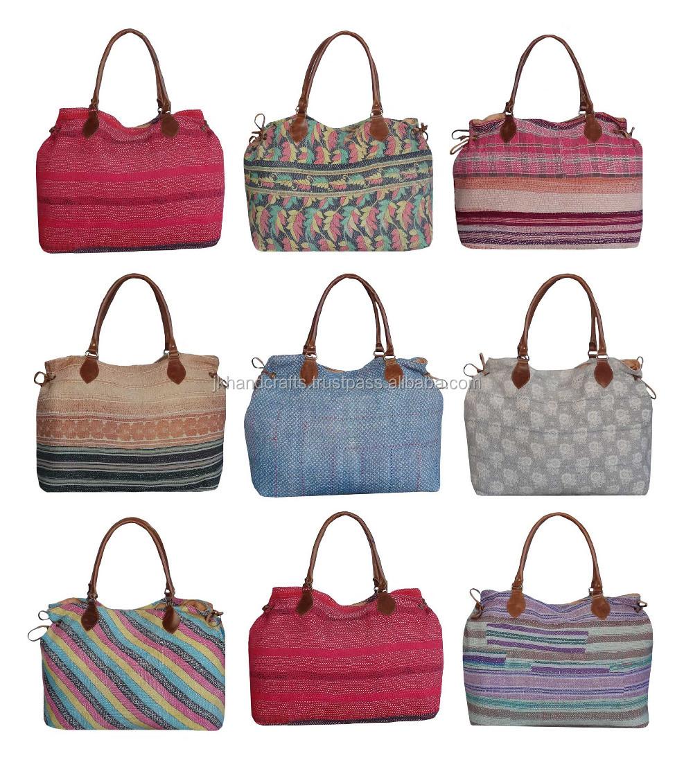 Wholesale Lot Hand Made Sari Kantha Beach Bags Buy