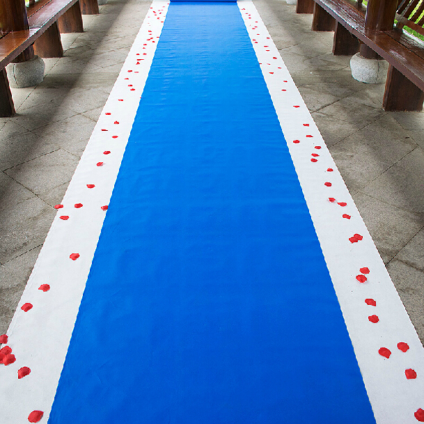 20 Meters Roll Royal Blue Wedding Theme Nonwoven Fabric
