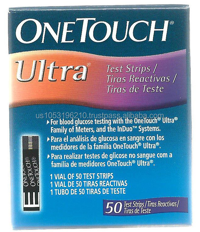 Apply a drop of One Touch Ultra control solution to the test strip instead of a drop of blood 2. Compare the results to the control range (you can find the range on the side of the vial of test strips).