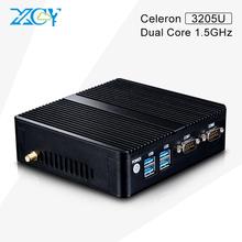 Fanless Small System X30-3755U Celeron Dual Core Mini PC Windows 7 W10 mini cpu 2*Lan 2*RS232 Fanless Computer With VGA/HDMI