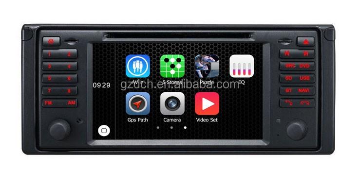 lecteur dvd de voiture avec gps pour bmw e39 m5 e53 x5 avec can bus apple ui ws 9146 vid o auto. Black Bedroom Furniture Sets. Home Design Ideas