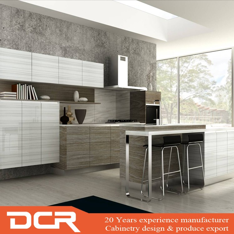 Custom Kitchen Cabinet Prices: Custom Whole Plastic Aluminium Modular Kitchen Cabinet Set