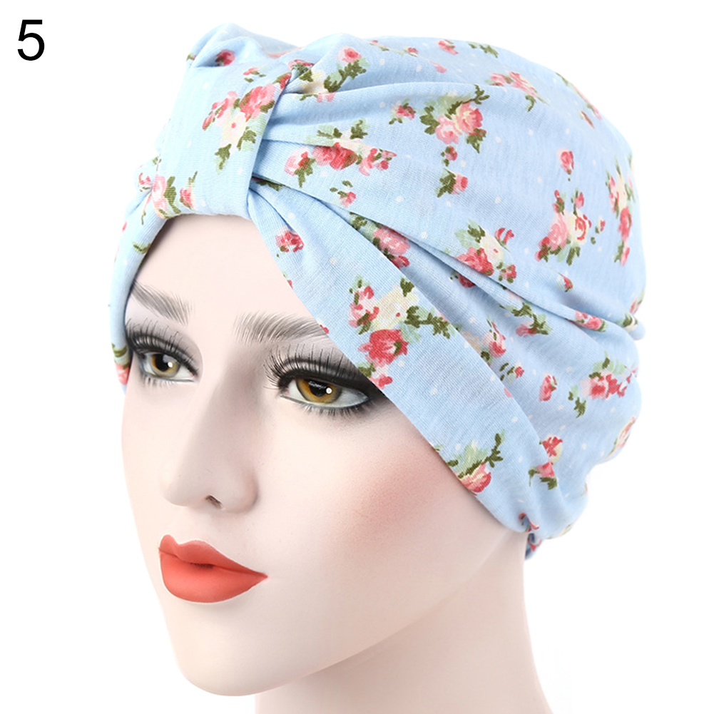 3bada836e87 Women Muslim Stretch Turban Hat Cancer Chemo Cap Hair Loss Head ...